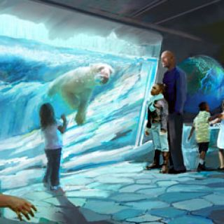 Rendering of Polar Bear Point Polar Ice Cave