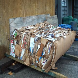 Recycling cardboard and other paper products
