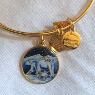 Alex and Ani polar bear charm