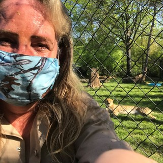 Carrie ppe mask and Joey cheetah may 2020 (3)