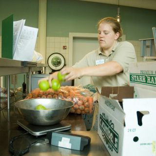 Food prep at Animal Nutrition Center